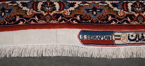 Na restauratie franjes tapijt