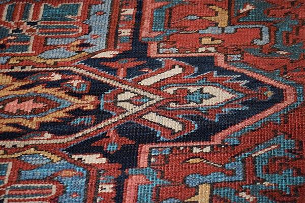 Voor retoucheren tapijt