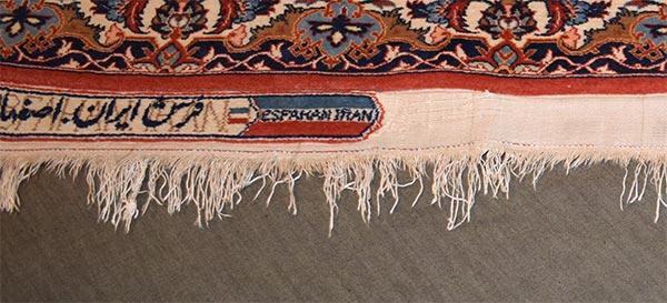Voor restauratie tapijt franjes