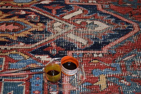 Voor retouche tapijt